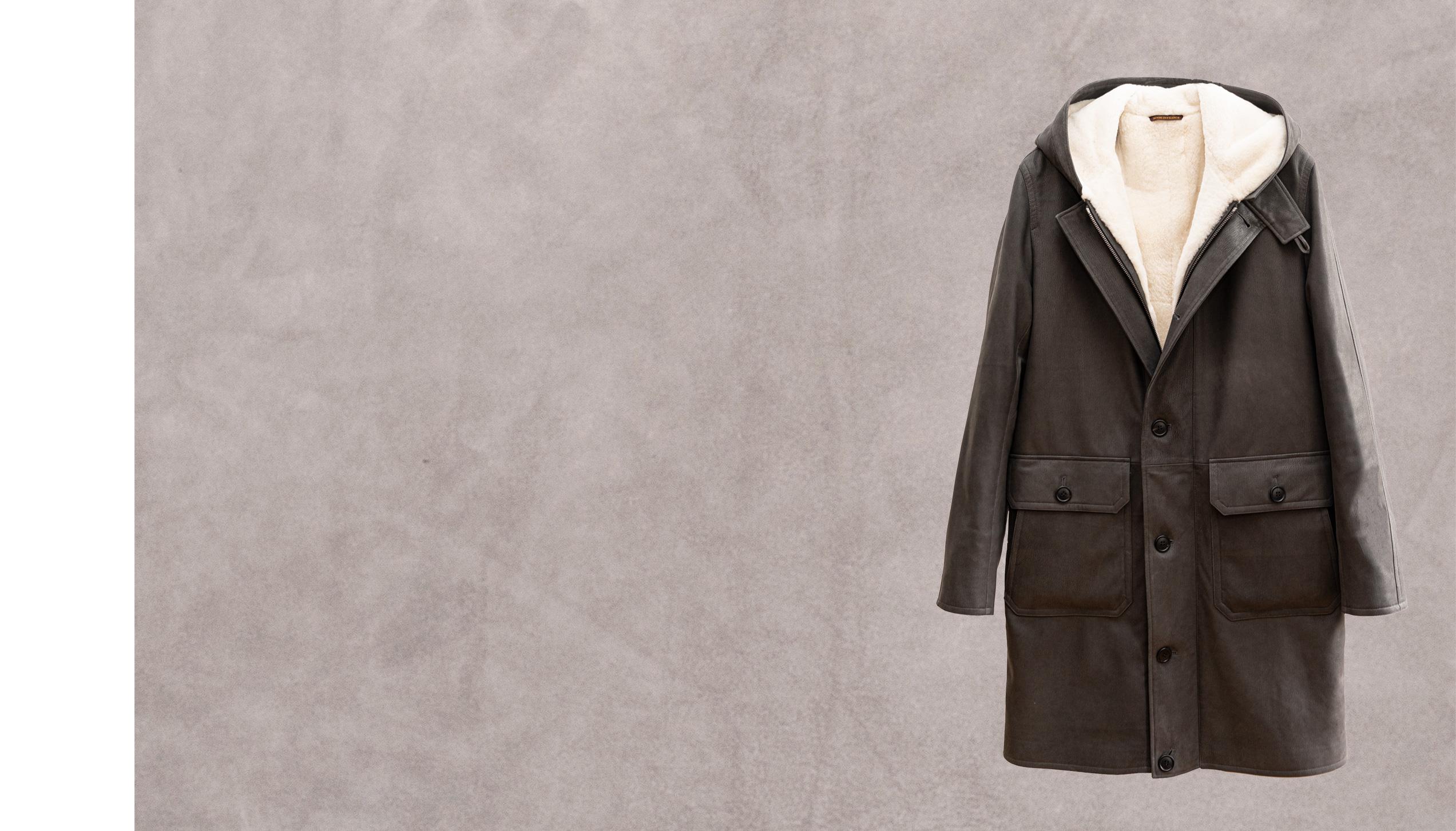 Bronx – Grey gevaudan lambskin lined with white nutria fur