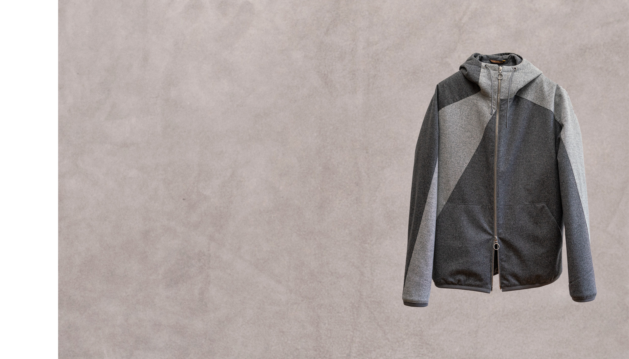 Bookree – Grey & anthracite cashmere-silk lined with padded silk