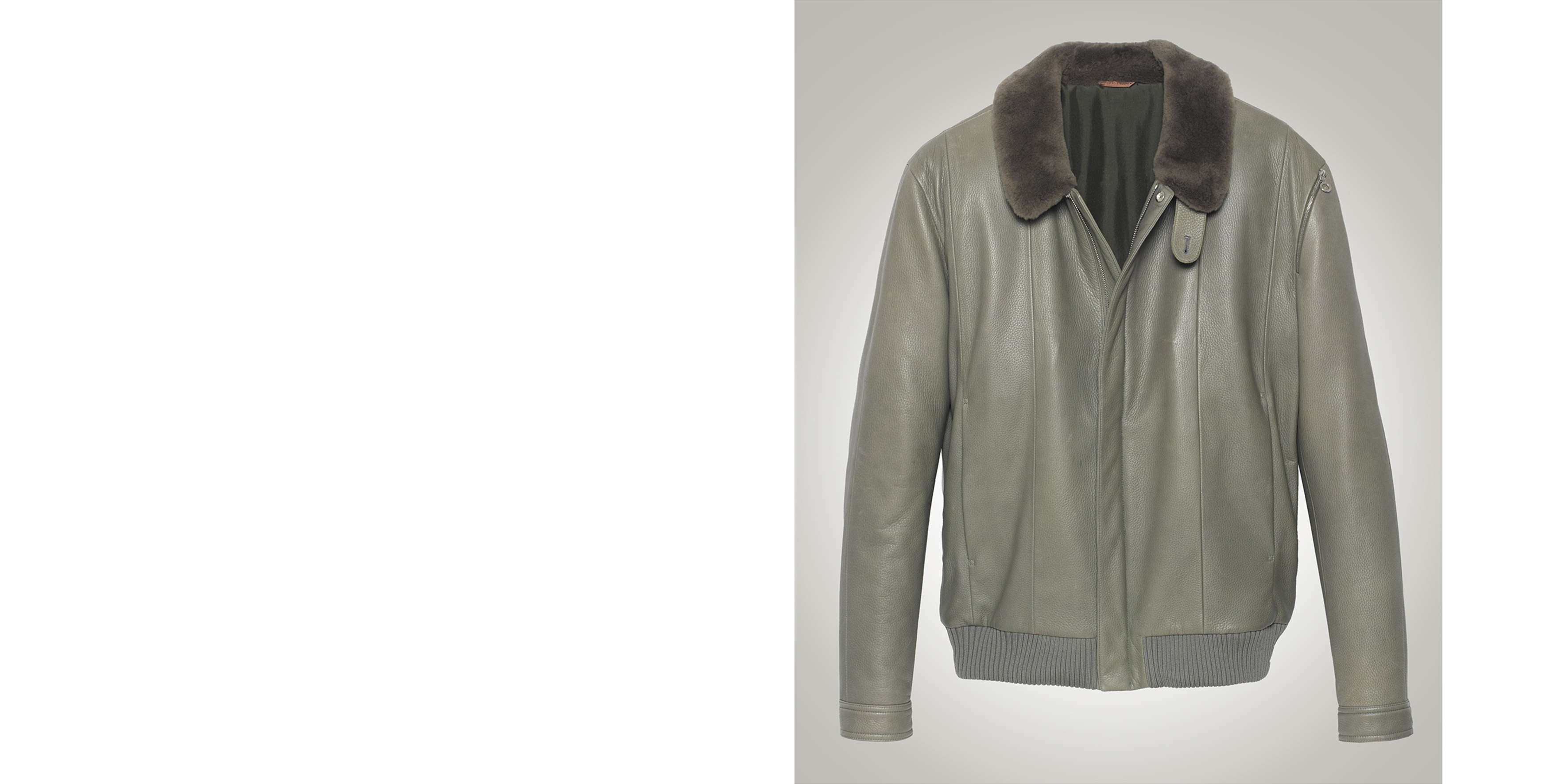 Joss Beaumont jacket in deer leather and nutria fur collar