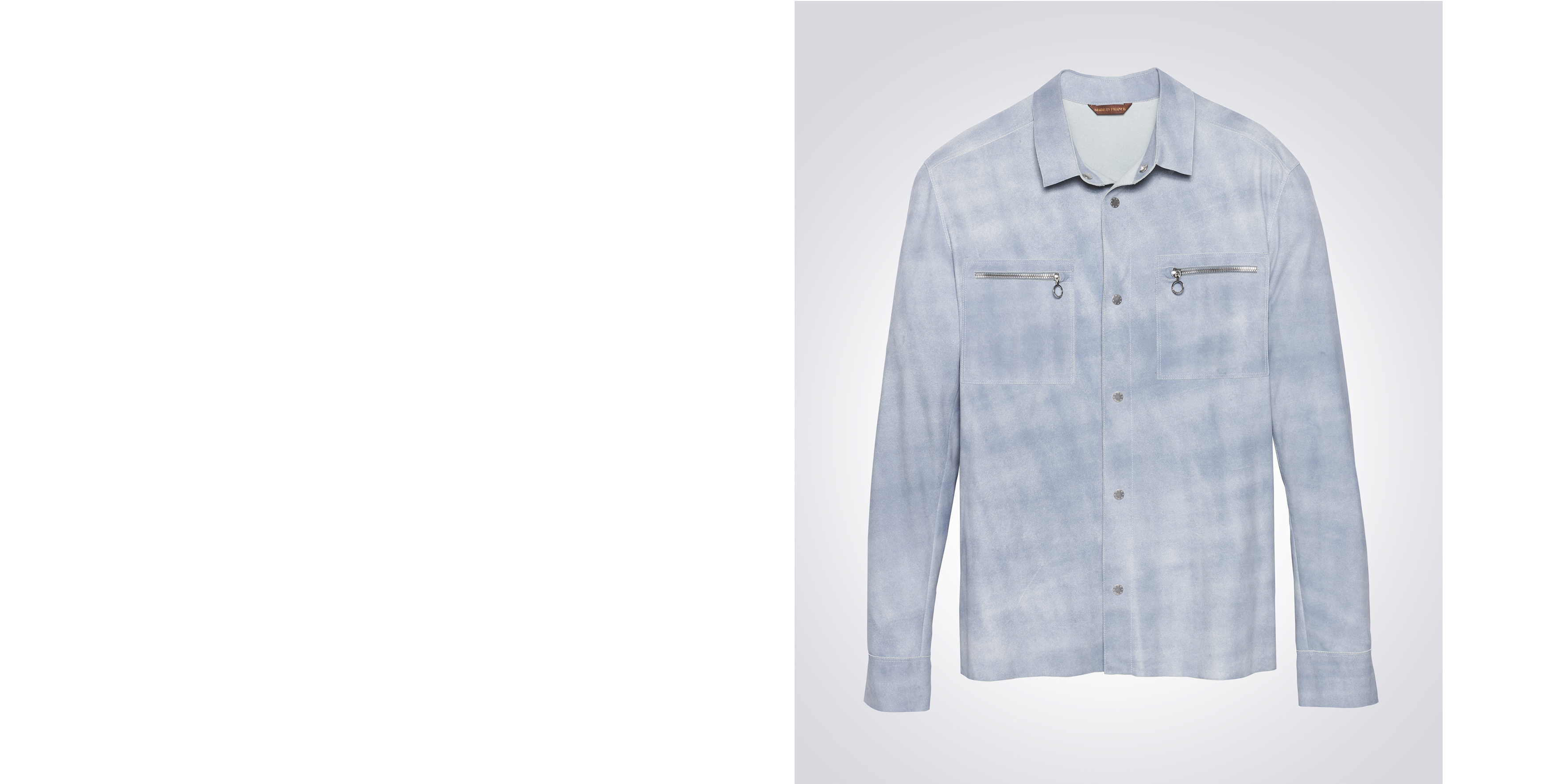 Skiffle shirt in light blue vintage goat