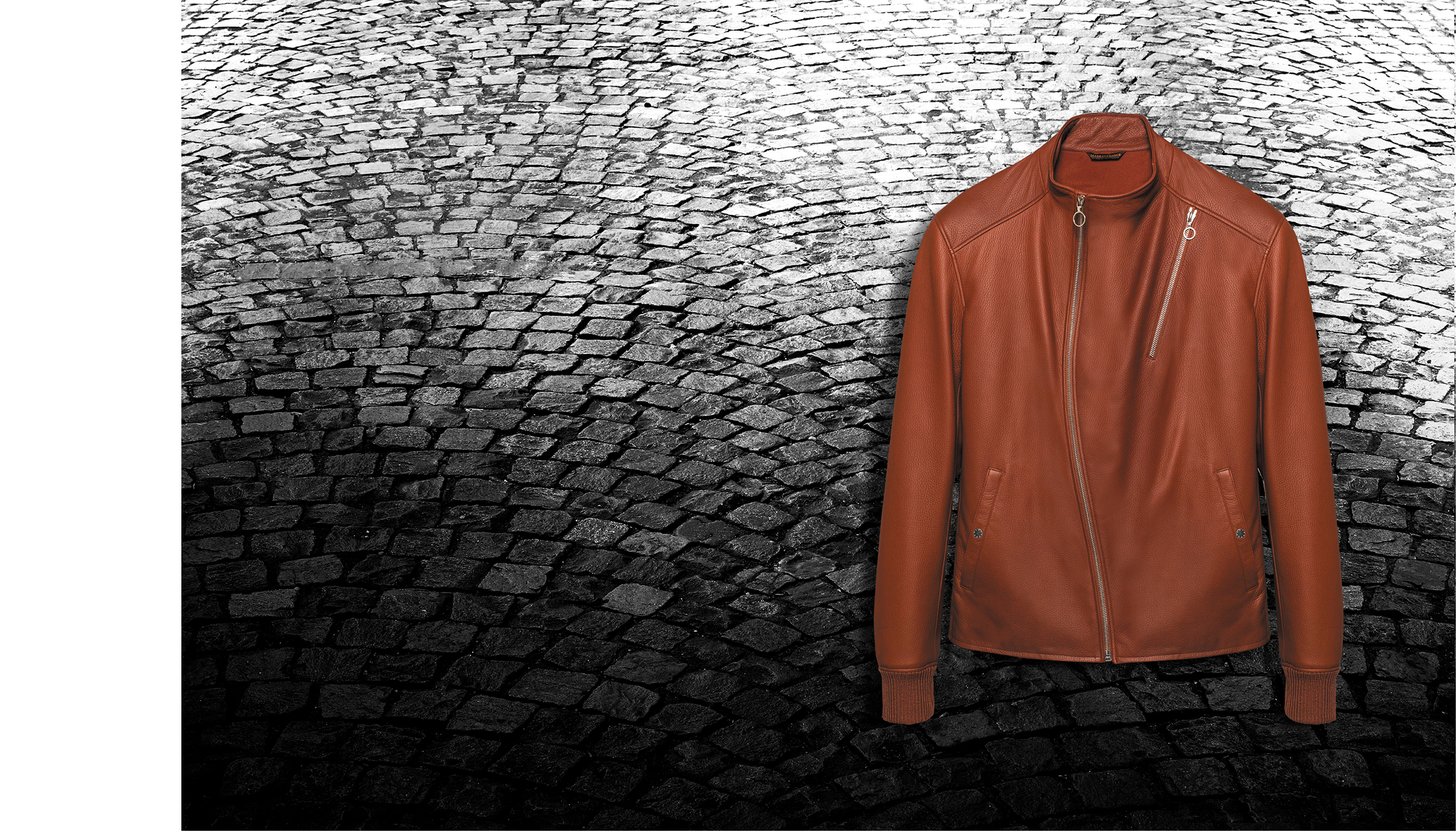 S3 jacket – Cobbler deer leather, lined with washed silk