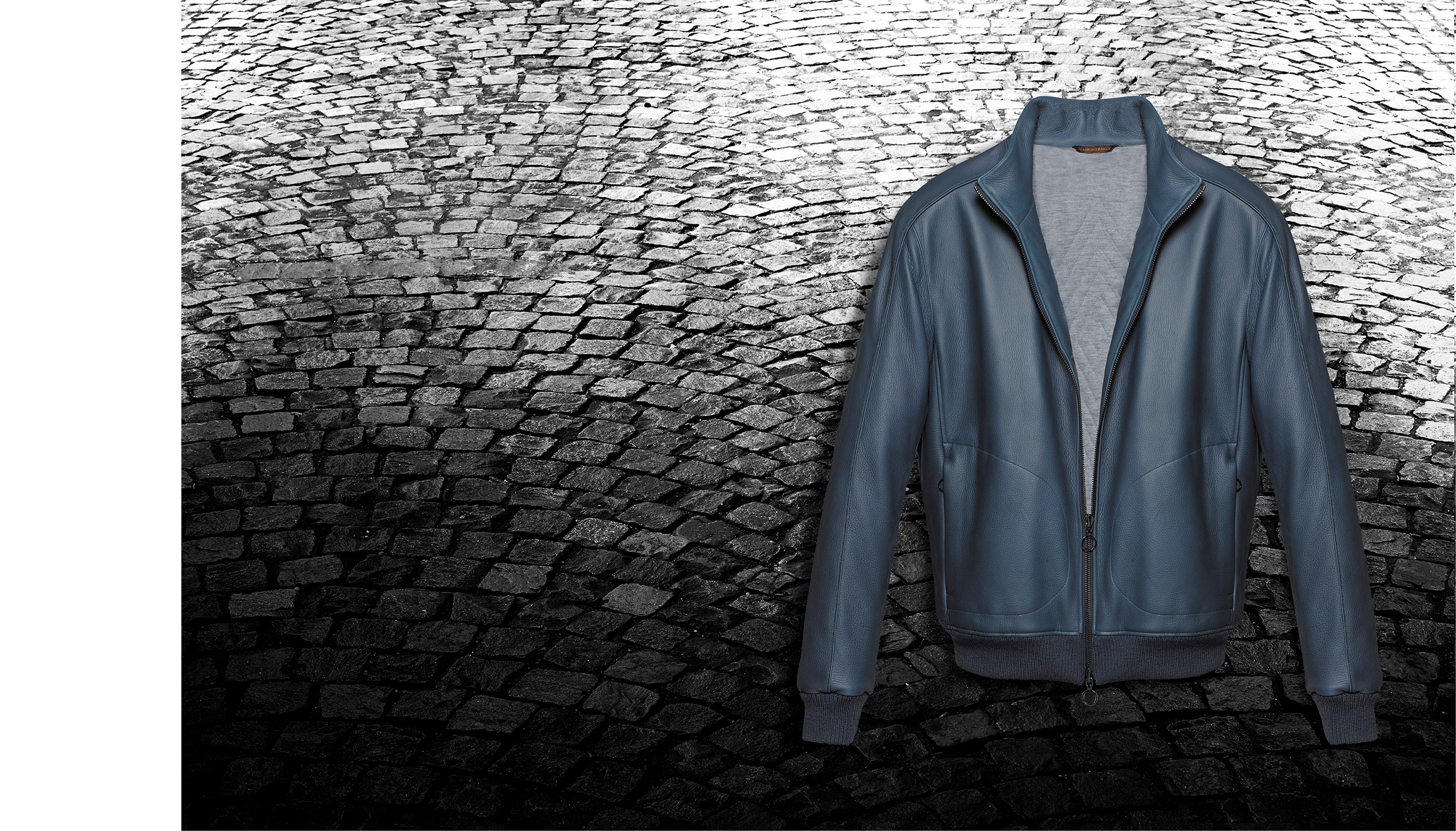 Daytona jacket – 667 deer leather, lined with padded jersey cashmere